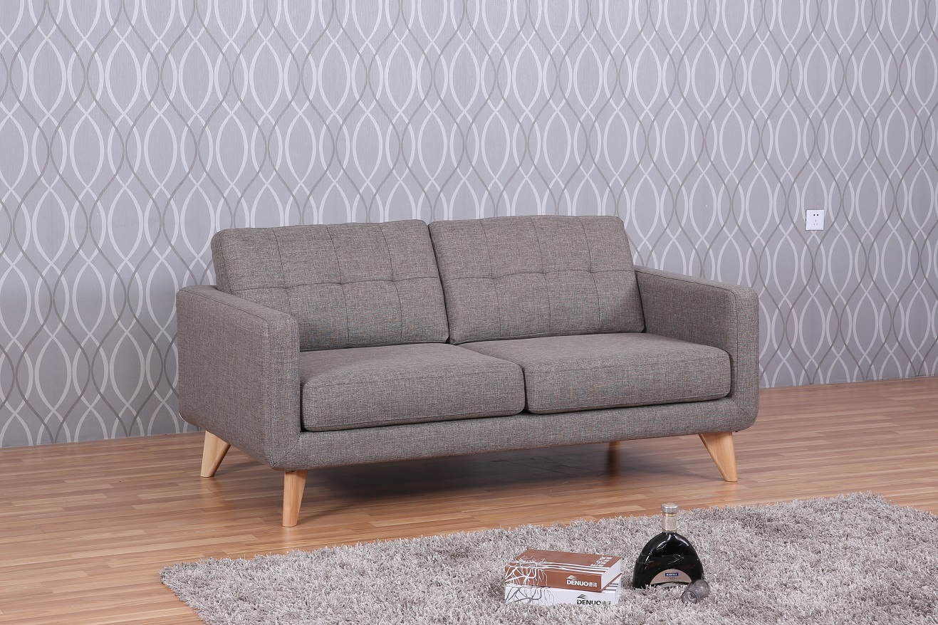 Ventura 2 Seater In Linen Grey Fabric Hagglehuge Online Furniture Store