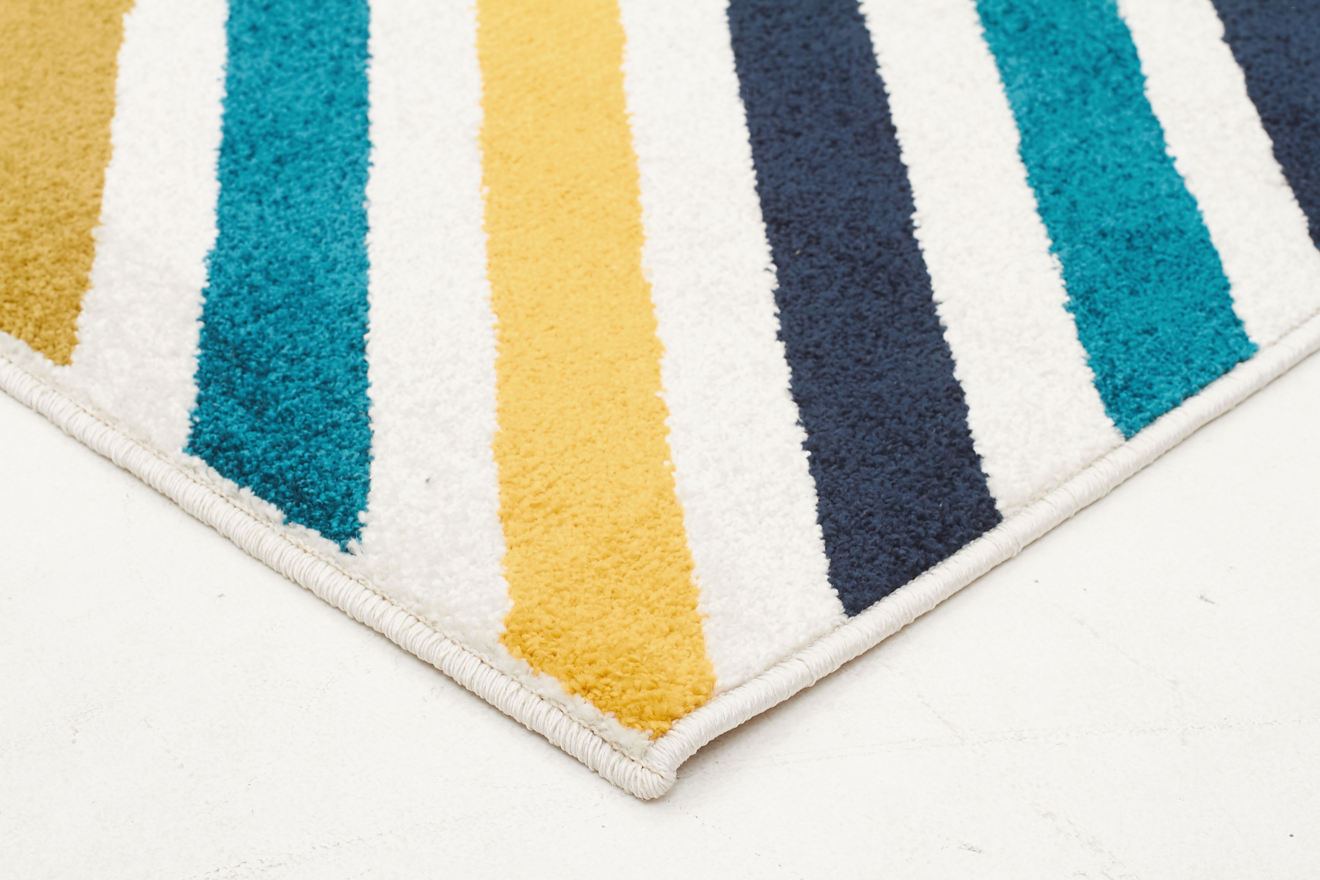Indoor Outdoor Hex Rug Blue Blue Navy 230x160cm