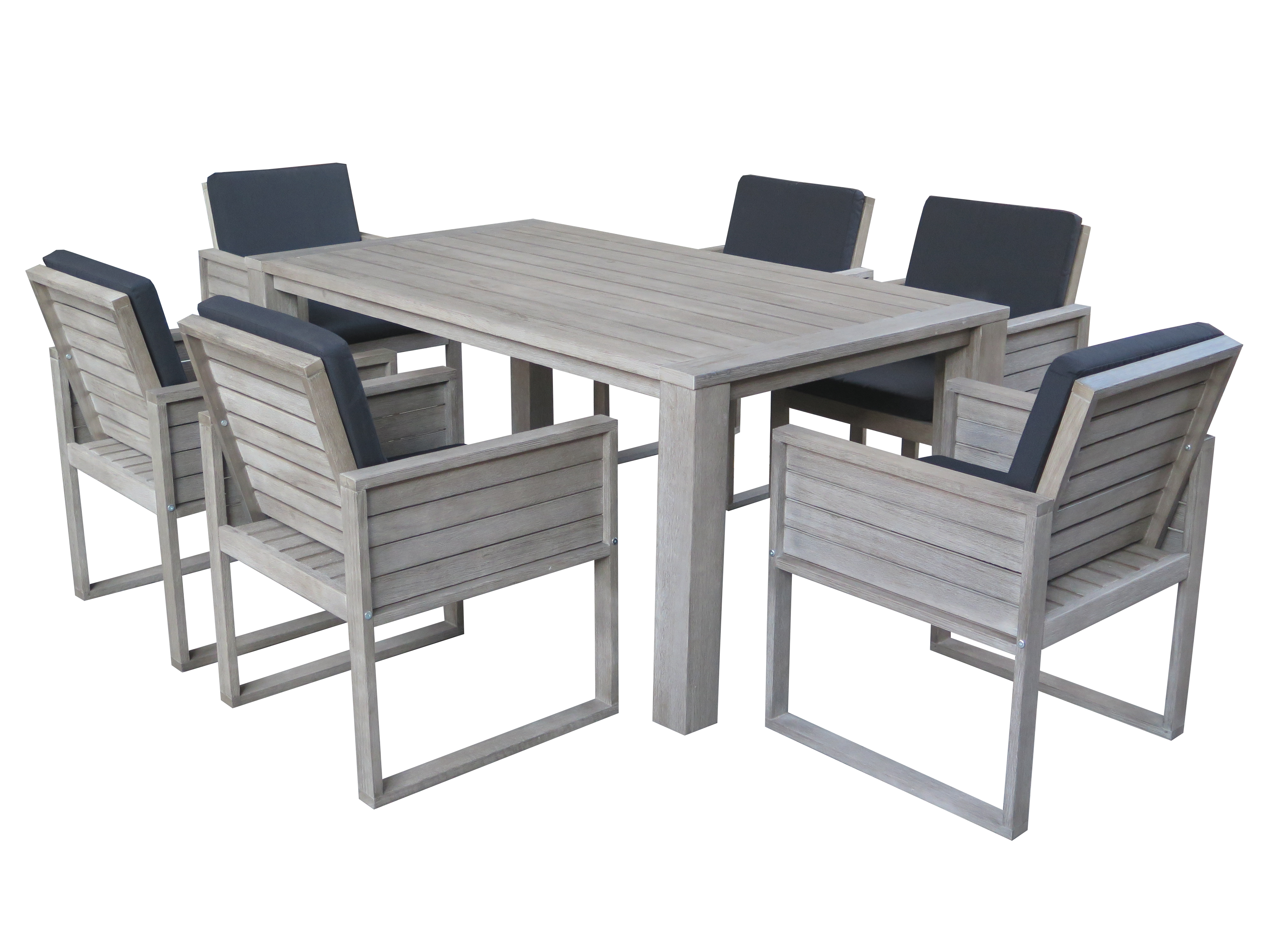Ocean Dining Table With Six Ventura Chairs Hagglehuge Online Furniture Store
