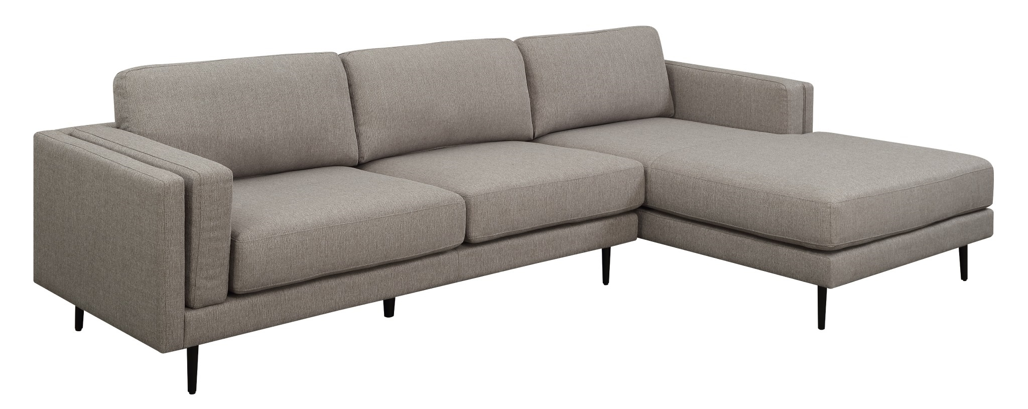 Dundas 2 seater lounge with rhf chaise hagglehuge for 2 5 seater chaise lounge